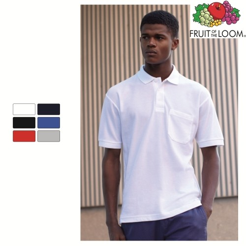 Polo | τσέπη | ανδρικό (Fruit of the Loom) ΔΙΑΦΗΜΙΣΤΙΚΑ POLO ΜΠΛΟΥΖΑΚΙΑ